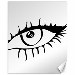 Drawn Eye Transparent Monster Big Canvas 11  X 14