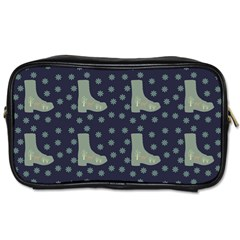 Blue Boots Toiletries Bags 2 Side