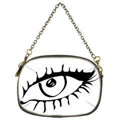 Drawn Eye Transparent Monster Big Chain Purses (one Side)