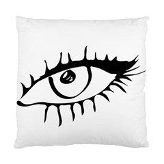 Drawn Eye Transparent Monster Big Standard Cushion Case (one Side)
