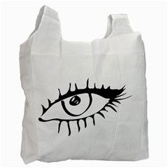 Drawn Eye Transparent Monster Big Recycle Bag (one Side)