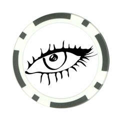 Drawn Eye Transparent Monster Big Poker Chip Card Guard (10 Pack)