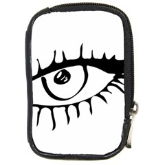 Drawn Eye Transparent Monster Big Compact Camera Cases