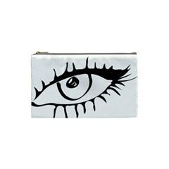 Drawn Eye Transparent Monster Big Cosmetic Bag (small)