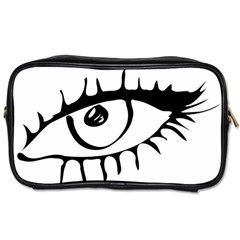Drawn Eye Transparent Monster Big Toiletries Bags