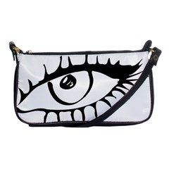 Drawn Eye Transparent Monster Big Shoulder Clutch Bags