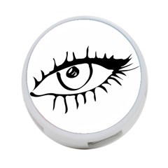 Drawn Eye Transparent Monster Big 4 Port Usb Hub (two Sides)