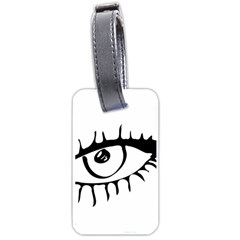 Drawn Eye Transparent Monster Big Luggage Tags (two Sides)