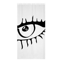 Drawn Eye Transparent Monster Big Shower Curtain 36  X 72  (stall)