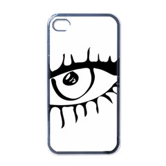 Drawn Eye Transparent Monster Big Apple Iphone 4 Case (black)