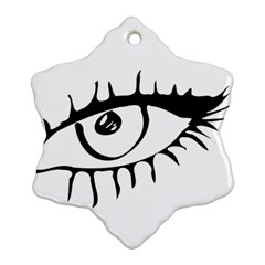 Drawn Eye Transparent Monster Big Snowflake Ornament (two Sides)