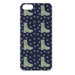 Blue Boots Apple Iphone 5 Seamless Case (white)