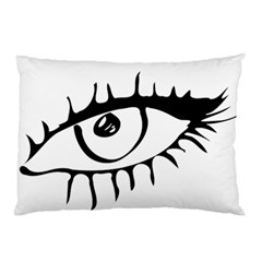 Drawn Eye Transparent Monster Big Pillow Case (two Sides)