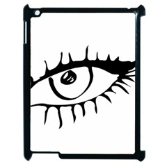 Drawn Eye Transparent Monster Big Apple Ipad 2 Case (black)