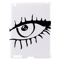 Drawn Eye Transparent Monster Big Apple Ipad 3/4 Hardshell Case (compatible With Smart Cover)