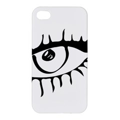 Drawn Eye Transparent Monster Big Apple Iphone 4/4s Premium Hardshell Case