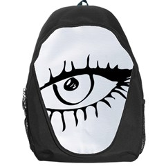 Drawn Eye Transparent Monster Big Backpack Bag