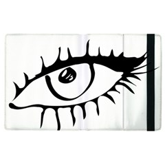 Drawn Eye Transparent Monster Big Apple Ipad 2 Flip Case