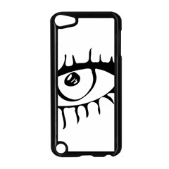 Drawn Eye Transparent Monster Big Apple Ipod Touch 5 Case (black)
