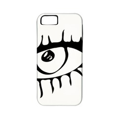 Drawn Eye Transparent Monster Big Apple Iphone 5 Classic Hardshell Case (pc+silicone)