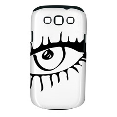 Drawn Eye Transparent Monster Big Samsung Galaxy S Iii Classic Hardshell Case (pc+silicone)