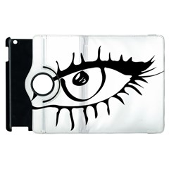 Drawn Eye Transparent Monster Big Apple Ipad 3/4 Flip 360 Case