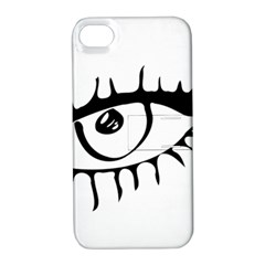 Drawn Eye Transparent Monster Big Apple Iphone 4/4s Hardshell Case With Stand