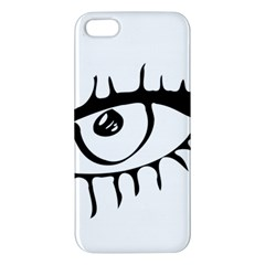 Drawn Eye Transparent Monster Big Apple Iphone 5 Premium Hardshell Case