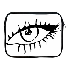 Drawn Eye Transparent Monster Big Apple Ipad 2/3/4 Zipper Cases
