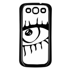 Drawn Eye Transparent Monster Big Samsung Galaxy S3 Back Case (black)