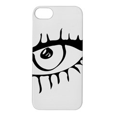 Drawn Eye Transparent Monster Big Apple Iphone 5s/ Se Hardshell Case
