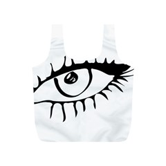 Drawn Eye Transparent Monster Big Full Print Recycle Bags (s)