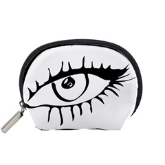 Drawn Eye Transparent Monster Big Accessory Pouches (small)
