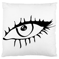 Drawn Eye Transparent Monster Big Standard Flano Cushion Case (two Sides)