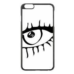 Drawn Eye Transparent Monster Big Apple Iphone 6 Plus/6s Plus Black Enamel Case