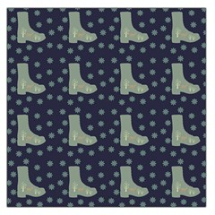 Blue Boots Large Satin Scarf (square)