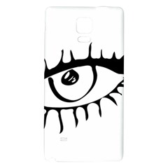 Drawn Eye Transparent Monster Big Galaxy Note 4 Back Case