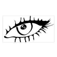 Drawn Eye Transparent Monster Big Satin Shawl
