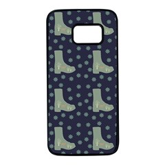 Blue Boots Samsung Galaxy S7 Black Seamless Case
