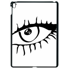 Drawn Eye Transparent Monster Big Apple Ipad Pro 9 7   Black Seamless Case