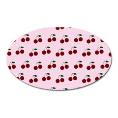 Pink Cherries Oval Magnet