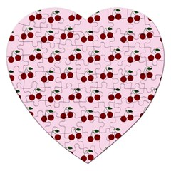 Pink Cherries Jigsaw Puzzle (heart)