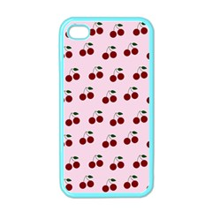 Pink Cherries Apple Iphone 4 Case (color)
