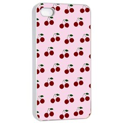 Pink Cherries Apple Iphone 4/4s Seamless Case (white)