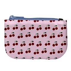 Pink Cherries Large Coin Purse