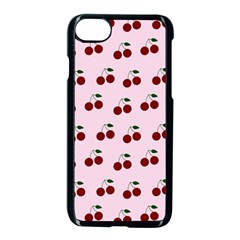 Pink Cherries Apple Iphone 8 Seamless Case (black)