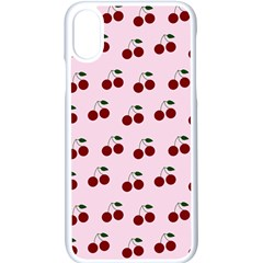 Pink Cherries Apple Iphone X Seamless Case (white)