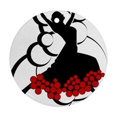 Flamenco Dancer Ornament (round)