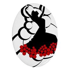 Flamenco Dancer Ornament (oval)