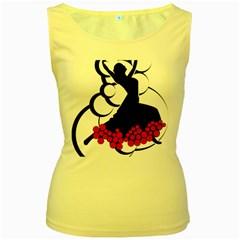 Flamenco Dancer Women s Yellow Tank Top